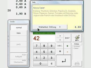 Kassensystem für Restaurants und Lieferdienste, WebShop & Pocket PC möglich