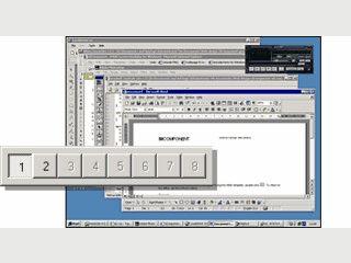 Bis zu acht verschiedene virtuelle Desktops