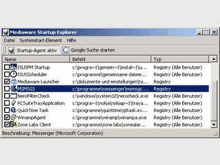 Einfaches Tool, das Ihnen eine Liste der mit Windows gestarteten Programme zeigt