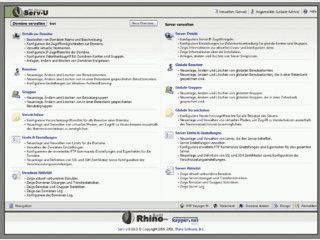 FTP Server mit Verschlüsselung, Webinterface