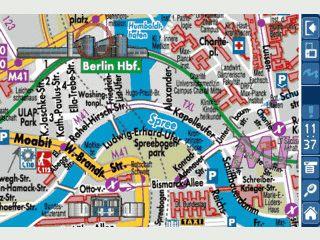 Stadtpläne auf dem Palm Handheld mit hoher Qualität. Demoversion für Berlin