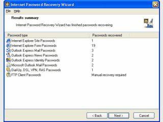 Passwort Recovery für Internet Explorer, Outlook und DFUE Netzwerk