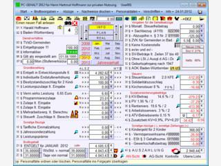 Gehaltsrechner mit vielen Funktionen und Berechnungshilfen.