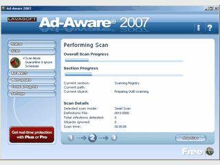 Sucht nach Werbe-Trojanern, Adware, Spyware und Schnüffelprogramme.