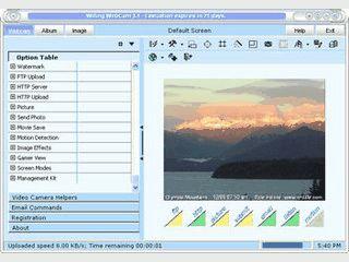 Bilder und Videos einer Webcam uploaden und mit Effekten verabeiten.
