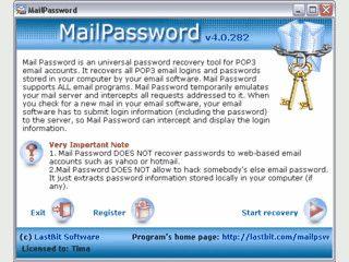 Passwort-Recovery für POP3 Konten deren Passwörter im Mailclient gespeichert sin