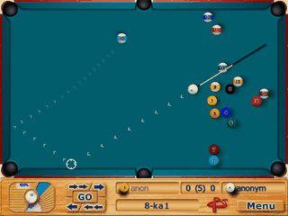 8 verschiedene Pool-Billiard für den Pocket PC