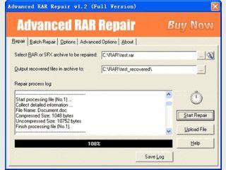 Tool mit dem defekte RAR und SFX Archive repariert werden können.