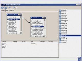 Abfrage-Editor für die Programmierung von SQL mit Delphi und C++