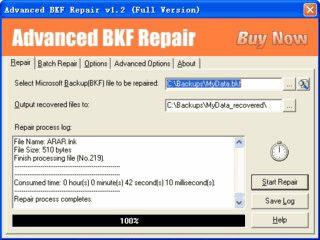Tool zur Reparatur von Microsoft Backup Dateien