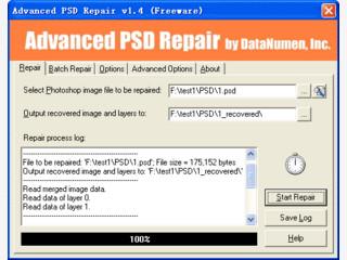 Zerstörte Dateien der Formate PSD und PDD reparieren