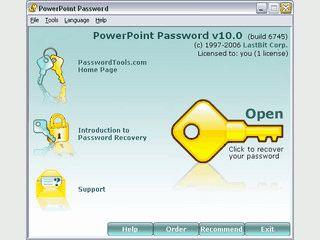 Knackt das Passwort einer MS PowerPoint Präsentation.