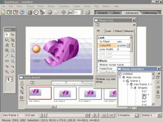 Mit KoolMoves können Sie einfache Flash Animationen erstellen.