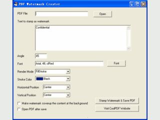 Fügt PDF Dateien ein Wasserzeichen hinzu.