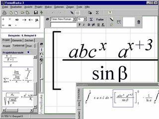 Mit FormelBaska erzeugt Sie mathematische Formeln wie auf einem Blatt Papier.