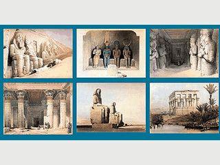 50 schön gezeichnte Bilder aus Ägypten als Bildschirmschoner