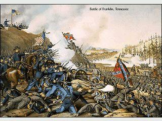 Handgezeichnete Bilder vom amerikanischen Bürgerkrieg als Bildschirmschoner