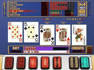 MegaBonus ist ein VideoPoker Automat wie Sie in aus dem Casino kennen