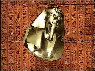 Das 3D Gesicht von König Tut rotiert als Bildschirmschoner