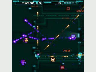 Zerstören Sie alle Bots auf den Ebenen. Retro-Style Arcade