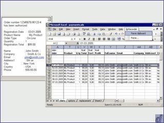 MS Excel Plugin das Inhalte in Tabellen aufgrund von Emails ändern kann.
