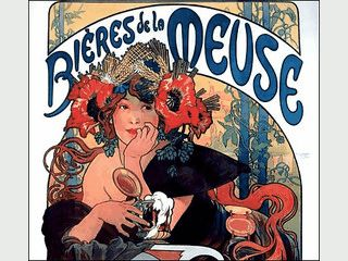 45 Werbeschilder des Art Deco Künstlers Alphonse Mucha als Screensaver
