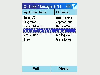 Ein Taskmanager für Smartphones mit MS Windows Mobile