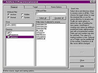 Tool um eine Auswahl von Dateien automatisch neu zu benennen.