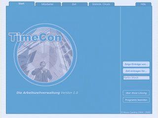 TimeCon ist eine einfach zu bedienende Arbeitszeitkontrolle.