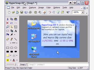 Screenshots lassen sich mit diesem Tool auch in DOS Programmen erstellen.
