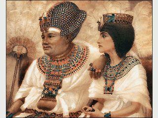 Gemalte Bilder des Archäologen Winifred Brunton der Ägyptischen Pharaoen