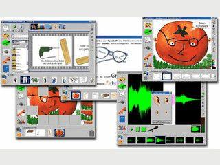 Kreatives Lernen für Kinder. Werkstätten für Malen, Schreiben, Sound, Diashow.