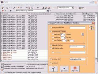 Tool zum komfortablen Umbenennen von mehreren Dateien gleichzeitig