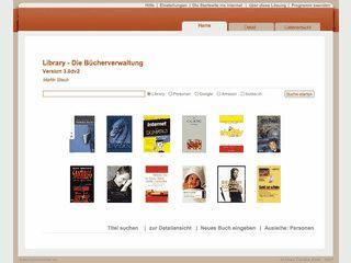 Library Bücherverwaltung mit Verleihverwaltung und Internet-Recherche