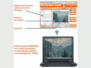 Der Desktop Hintergrund wird automatisch mit dem Bild einer Webcam aktualisiert