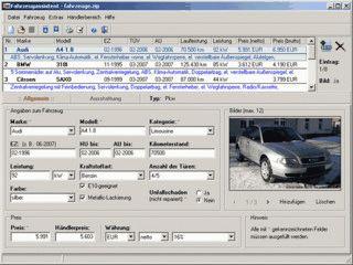 Fahrzeugassistent dient zur Verwaltung von Fahrzeugbeständen bei mobile.de.