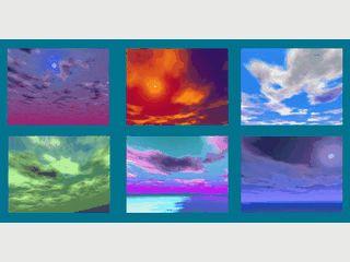Ca. 50 Bilder von Wolken am Himmel als Bildschirmschoner
