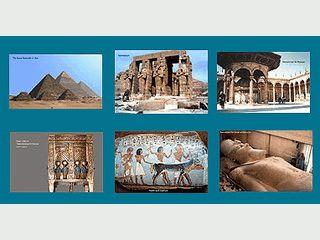 Slideshow-Screensaver mit Urlaubsbildern aus Ägypten.