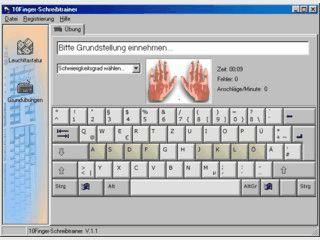Einfaches erlernen des Schreibens im 10-Fingersystem
