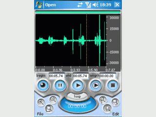 Einfacher Soundrecorder für PDAs.