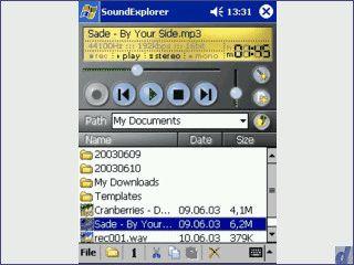 MP3/WAV Recorder und Player für Ihren Pocket PC