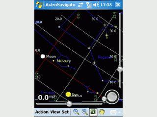 Zeigt Ihnen das Sternbild zu Ihrer aktuellen GPS Position an
