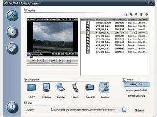 Software zur Erzeugung von Videos in den Formaten MPEG4 und 3GP für PSP