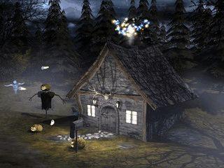 Geister, Hexen und Kürbisse schweben über Ihren Bildschirm