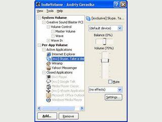 Lautstärke-Eigenschaften für alle Programme individuell einstellen