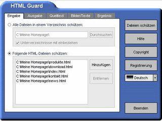Kopierschutz für Ihre Webseiten.