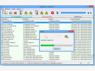 Software zur Datensicherung von verschiedenen Ordnern in komprimierte Archive
