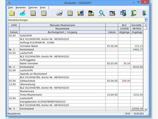 Software zur Verwaltung von Kontoauszügen mit CSV-Bankdatenimport.