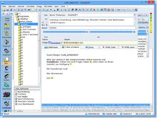 Email Verteilersystem für die Kommunikation im Netzwerk und Internet