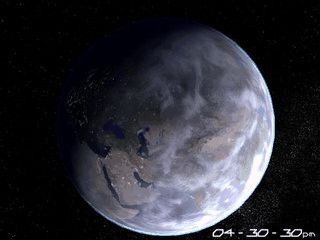 Realistische Darstellung der Erde als Bildschirmschoner